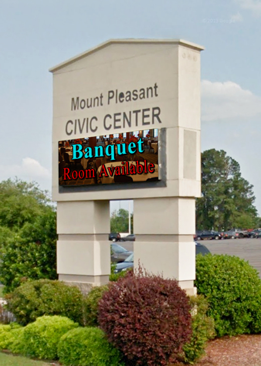 mount pleasant civic center led signs