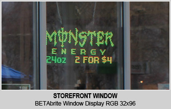 storefront window led display